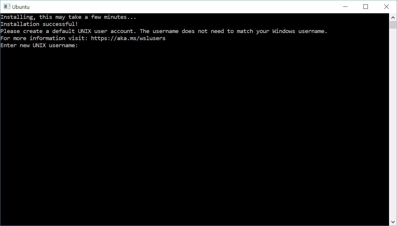 creazione account utente per sistema linux su wsl